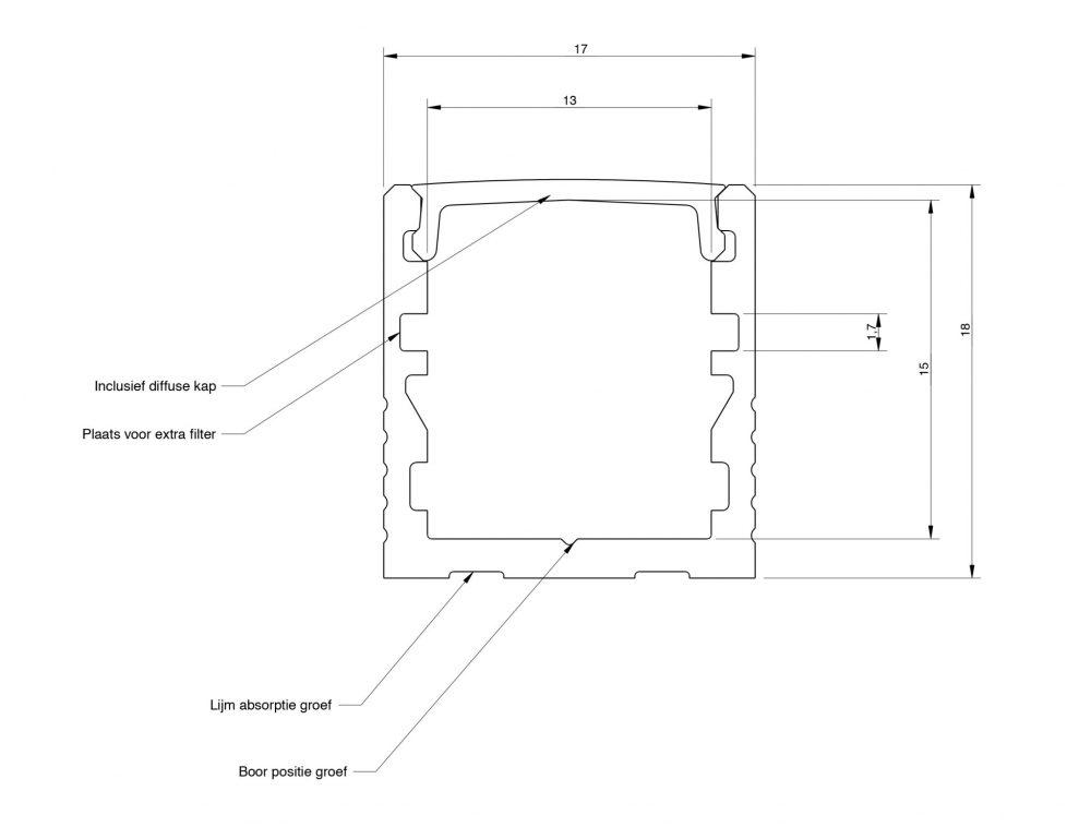 led profiel 18x17